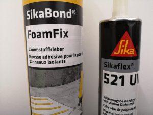 SikaBond FoamFix und Sikaflex-521 UV